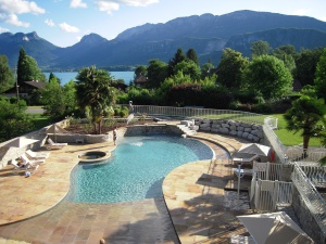 Our Hotel Pool, Les Grillons, Talloires