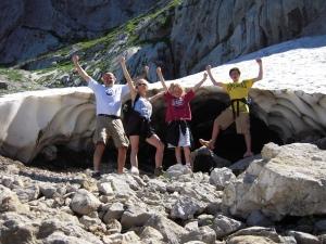 Outside a mini glacier on La Tournette