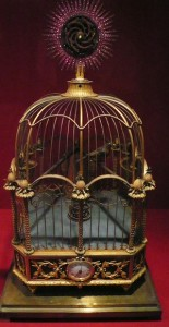 A James Cox gilded birdcage clock in the Forbidden City's Hall of Clocks and Watches, Beijing.  Photo: Flickr gruntzooki.