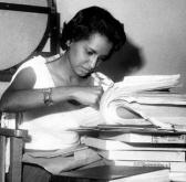 Marta Rojas as a young reporter