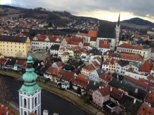 A view from Cesky Krumlov Castle tower